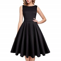 black swing dress UK