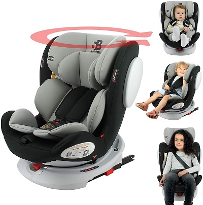 child safety seat in car