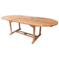 Teak Oval Extendable 6-8 Seater Garden Table