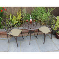 Aluminium Bistro Set Table And Chairs