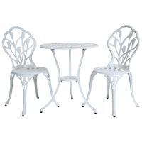 Aluminium Tulip Bistro Table and Chairs Set – White