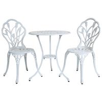 Aluminium Tulip Bistro Table and Chairs Set – White