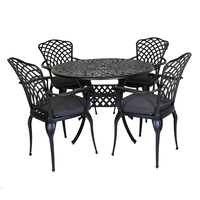 Cast Aluminium Table and Chairs Set